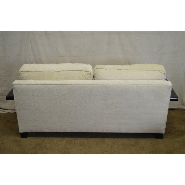 Thayer Coggin Thayer Coggin Modern Design Black & White Sofa For Sale - Image 4 of 10