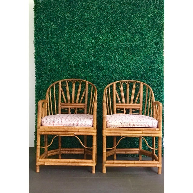 1980s Vintage Brighton Bamboo ChairsA Pair For Sale - Image 12 of 13