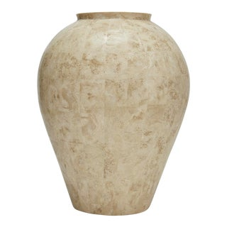 1990s Tessellated Cantor Stone Mango Jar