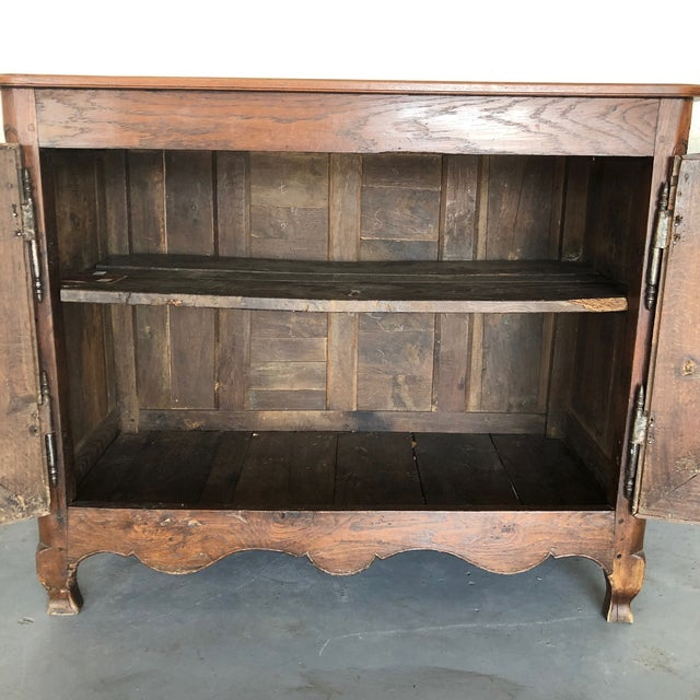 French French Early 19th Century Louis XV Oak Buffet From Normandy For Sale - Image 3 of 13