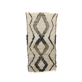1980s Moroccan Azilal Rug - 2′6″ × 5′1″ For Sale