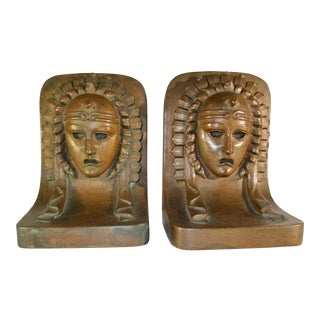 Art Deco Period Copper Clad Bookends - a Pair For Sale