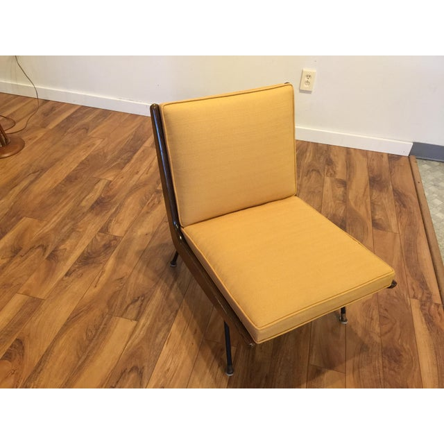 Mid-Century Modern New Yellow Upholstery Mid-Century Boomerang Chair For Sale - Image 3 of 11