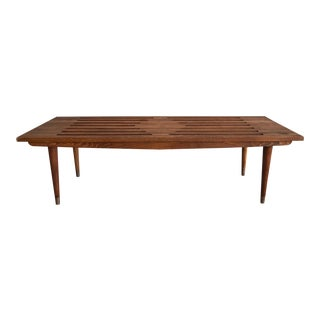 1960s Vintage Yugoslavian Slatted Bench/Coffee Table For Sale