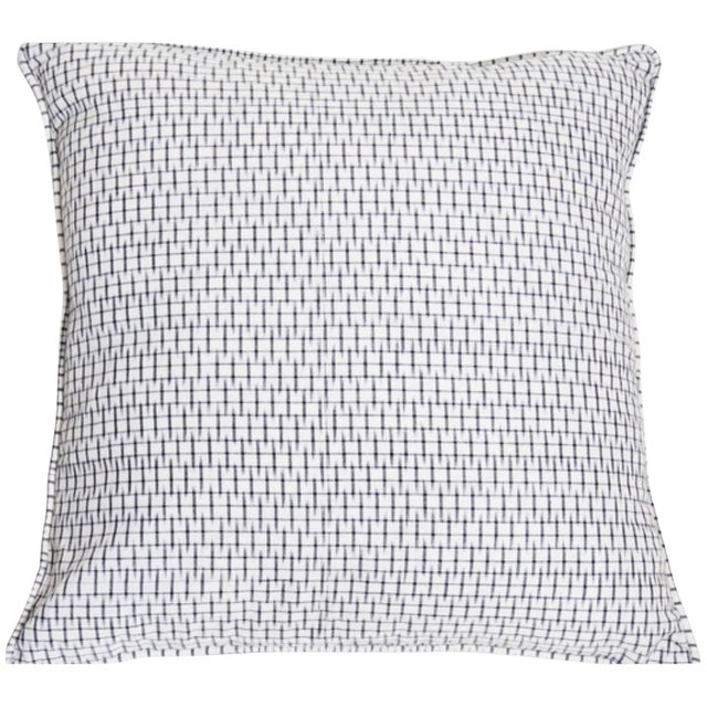 Light Graphite Ikat Black Pillow Covers - Pair - Image 1 of 3