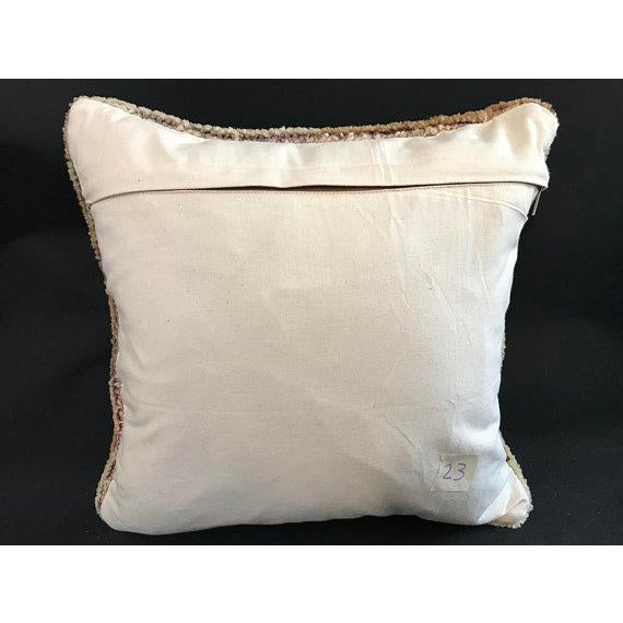 Turkish Oushak Antique Handmade Pillow Case For Sale - Image 4 of 11