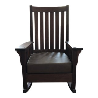 Handmade Mission Style Rocking Chair For Sale