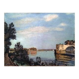 Paul De Castro [1882-1939] : View Along the River, Ca.1900. For Sale