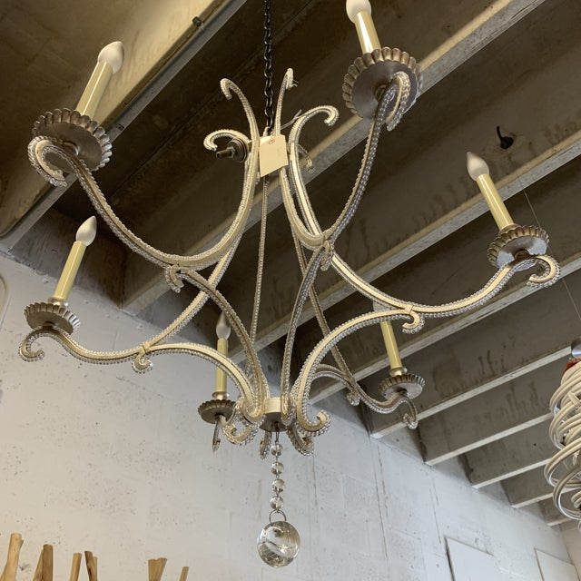 Visual Comfort Chc1550 E. F. Chapman Oslo 6 Light Chandelier For Sale In West Palm - Image 6 of 11