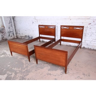 Pair of Inlaid Mahogany Federal Style Twin Beds by Kindel Furniture Preview