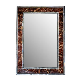 Antiqued Tortoise Eglomise Mirror For Sale