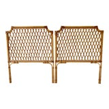 Image of Vintage Rattan Headboards- a Pair For Sale