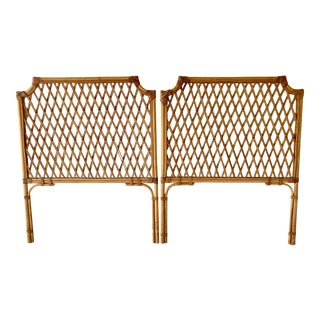 Vintage Rattan Headboards- a Pair For Sale