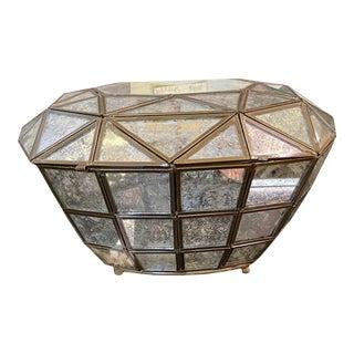 Vintage Diamond Shaped Glass Box For Sale