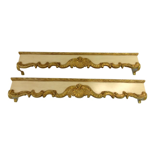 Friedman Brothers Hand Carved Wooden Cornices - A Pair For Sale