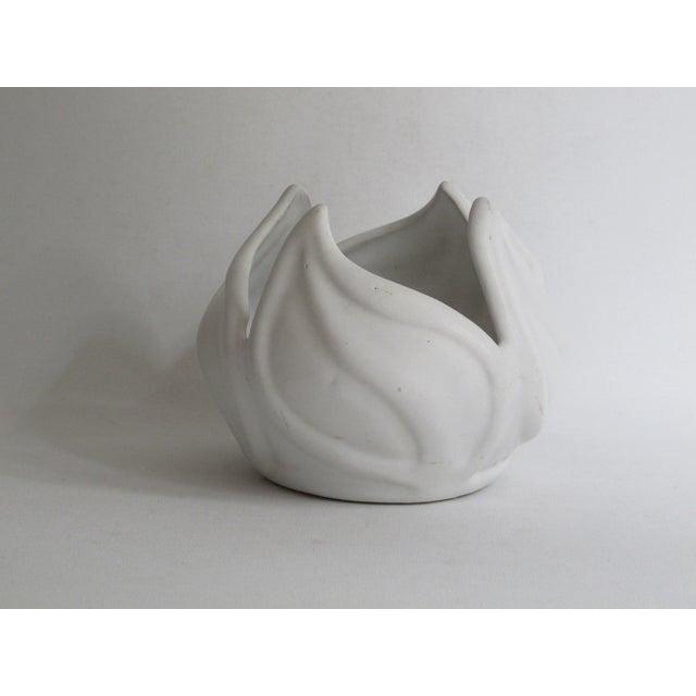 Van Briggle White Ceramic Vessel For Sale In Los Angeles - Image 6 of 7