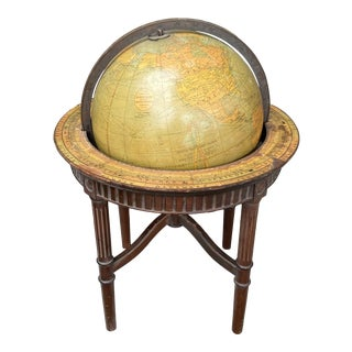 Antique Globe by Denoyer-Geppert Co For Sale