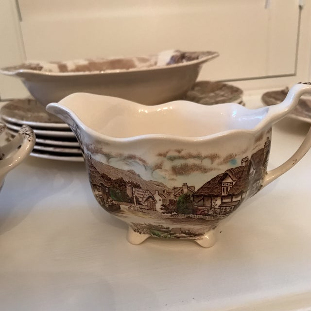 Cottage 1960s Vintage Johnson Bros Olde English Countryside Serving Set - 17 Pieces For Sale - Image 3 of 13