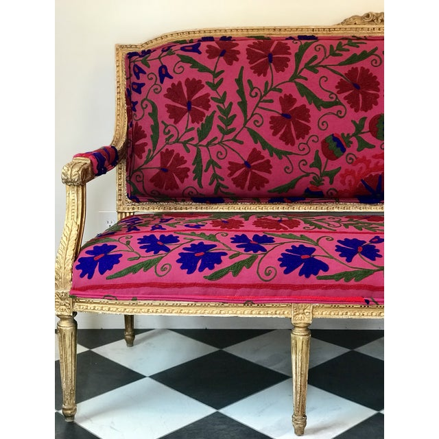 Boho Chic French Boho Settee For Sale - Image 3 of 13