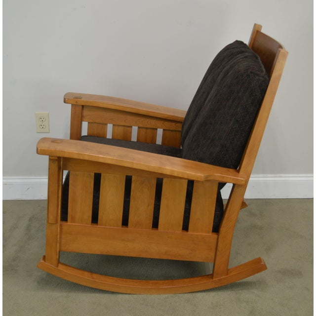 Stickley Mission Collection Solid Cherry Rocker For Sale In Philadelphia - Image 6 of 13