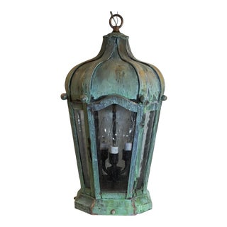 Handcrafted Solid Brass Hanging Lantern For Sale