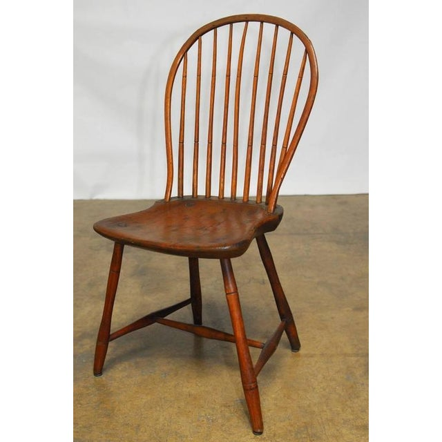 American Bow-Back Windsor Chairs - A Pair | Chairish