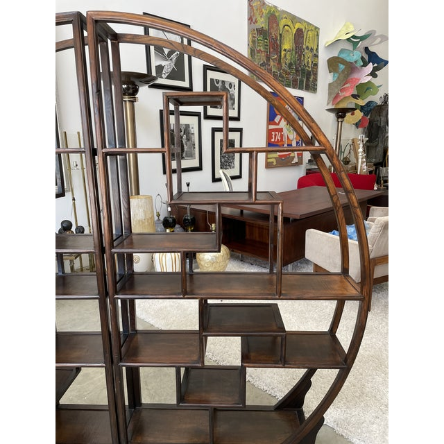 Asian 1960s Asian Style Wooden Etagere For Sale - Image 3 of 11