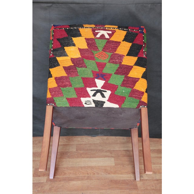 Contemporary Kilim Upholstered Armchair For Sale - Image 3 of 7