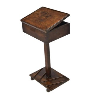 Antique French Wood Lectern Book / Bible Stand - Adjustable Height For Sale