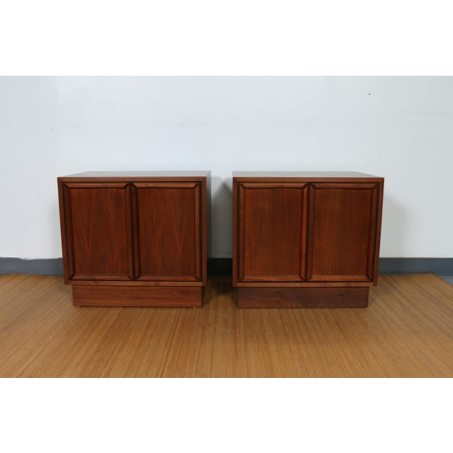 Mid-Century Modern Brown & Saltman for John Keal Nightstands - A Pair For Sale - Image 3 of 11