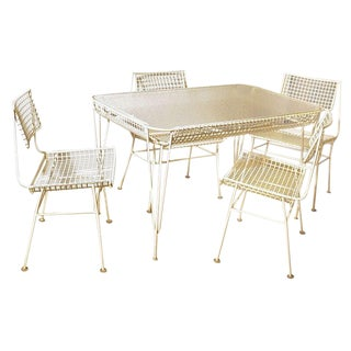 Mid-Century Modern Terrace Dining Set - 5 Pieces For Sale