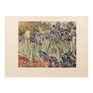 """1950s Van Gogh, First Edition Lithograph """"Irises"""" For Sale"""