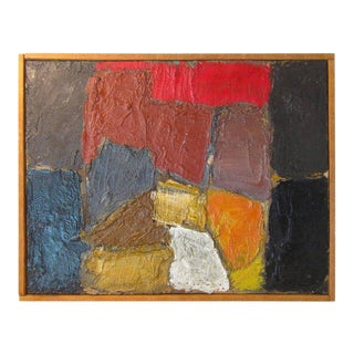 Danish Modern Abstract Impasto Oil Painting