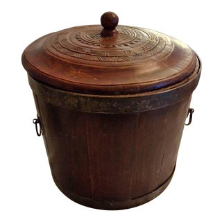 Chinese Wood Rice Grain Bucket