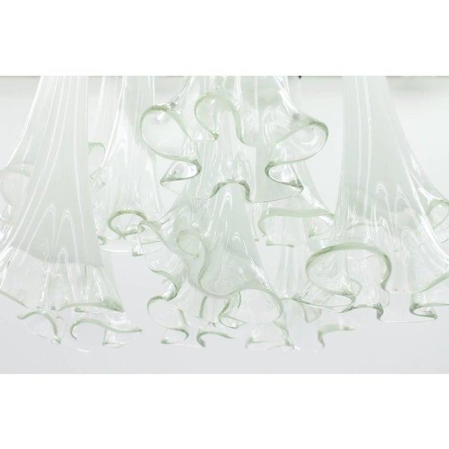 Murano, Venini & Co. Venini Murano Glass Flush Mount Chandelier, Italy, Circa 1970s For Sale - Image 4 of 13