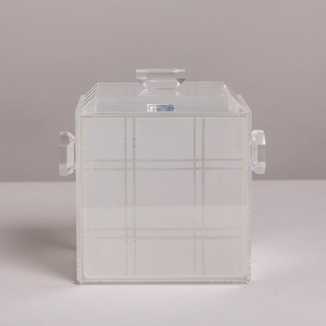 A Lucite Icebucket with Opaque Grided Removeable Liner 1970s NB: These items are subject to a further discount over and...