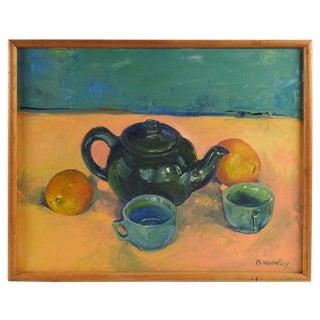 Tea & Oranges Still Life by Brigitte Woosley