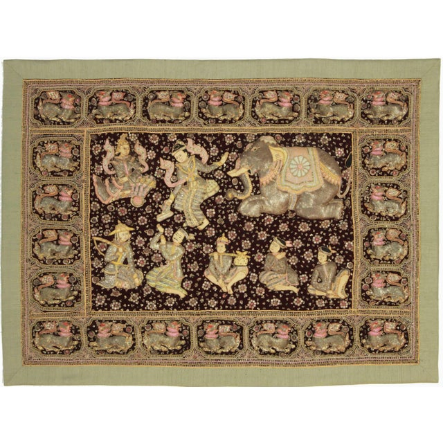 Embroidered Kalaga Tapestry For Sale
