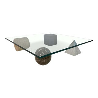1970s Postmodern Metafora Coffee Table For Sale