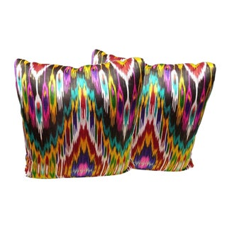 Silk Ikat Toss Cushions