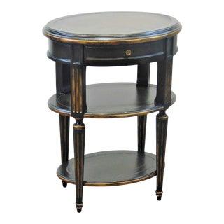 John Richard Louis XVI Style Black & Gold Nightstand For Sale