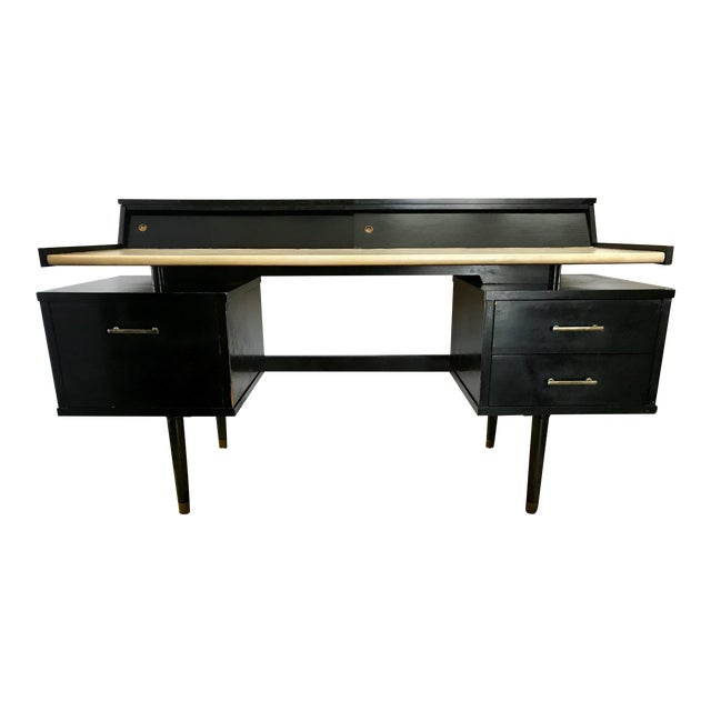 Mid Century Biscayne Floating Desk Edward Wormley for Drexel For Sale