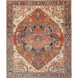 Pasargad Ny Antique Persian Serapi Rug - 10' X 12' For Sale