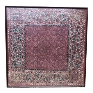 1960s Vintage Framed Suzani Textile Art For Sale