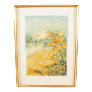 """Autumn Yellows"" Lithograph For Sale"