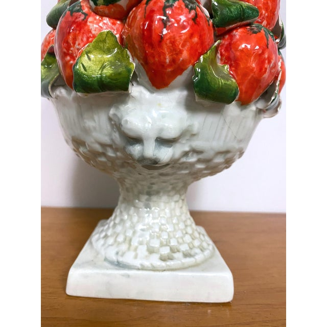 Italian Vintage Italy Majolica Topiary Centerpiece For Sale - Image 3 of 9