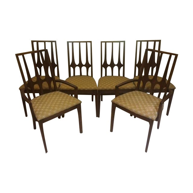 Mid-Century Broyhill Brasilia Dining Chairs - S/6 - Image 1 of 7