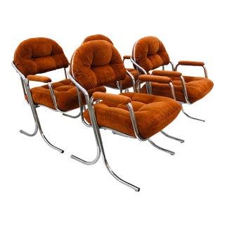 Mid Century Modern Tubular Chrome Arm Chairs