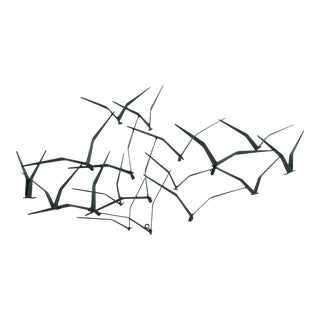 "1988 Curtis Jere Signed Artisan House ""Verdi Gulls"" Wall Sculpture For Sale"