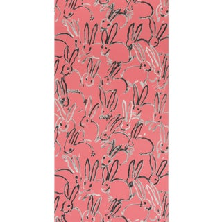 Hunt Slonem for Lee Jofa, Hutch Wallpaper Roll, Pink, 10 Yards For Sale